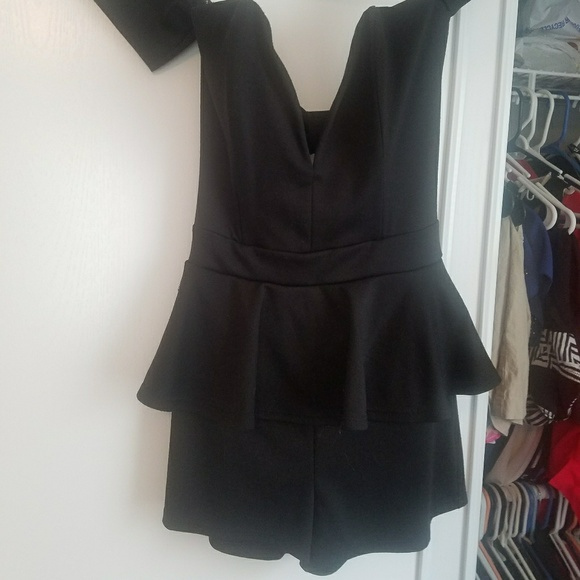 Love Culture Dresses & Skirts - Black off the shoulder romper